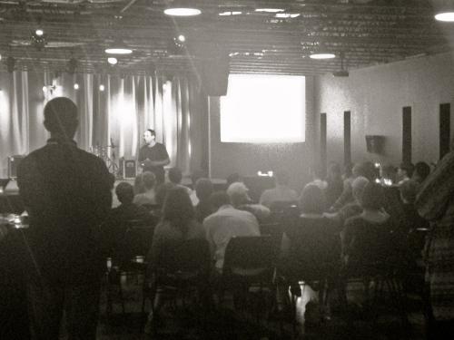 Bruce Herman gives a talk