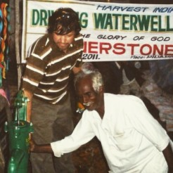 Dedicating a water well in India